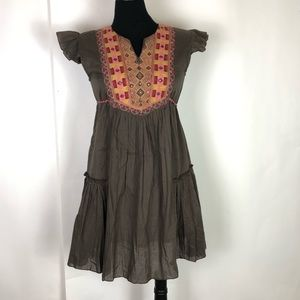 Funky People Boho Hippie Dress Brown Medium Dress